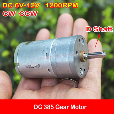 Speed Reduction Electric Gear Magnet Motor 6mm Shaft DC12V 140rpm CW//CCW
