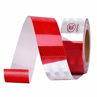 """2""""x50' Dot-C2 PREMIUM Reflective Red and White Conspicuity Tape Trailer 1 Roll"""