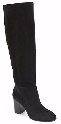 b94127775a9b Sam Edelman Silas Boot Women s Slouch Suede Knee High Shoes Black Size 9.5