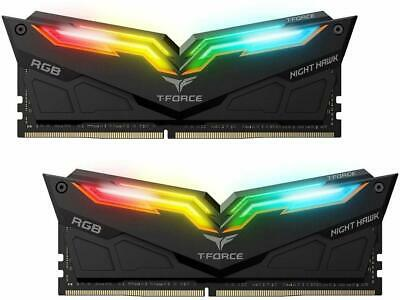 Team T-Force Night Hawk RGB Gaming RAM DDR4 3200MHz 16GB(2x8GB) Desktop Memory