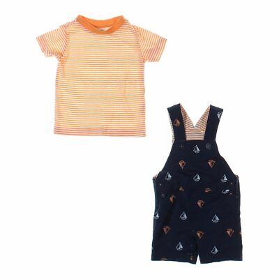 First Impressions Baby Boys Overalls & T-shirt Set, size 3 mo,  blue/navy