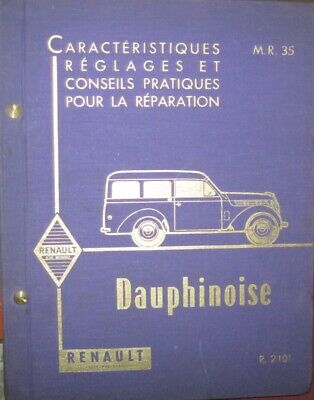 * Renault Dauphinoise R.2101 Manuel Werkstatthandbuch 2/1958 francais french