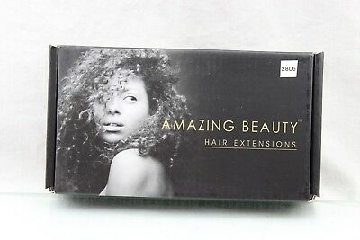 Amazingbeauty BLACK Clip In Hair Extensions 8A Grade Afro Jerry Curl 18 Inch