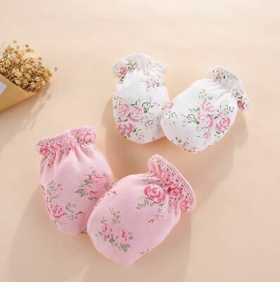 Floral Baby Mittens Baby Scratch Mitts Baby Gloves Newborn Mittens Girl Scratch