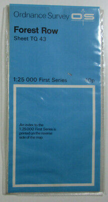 1965 Old Vintage OS Ordnance Survey 1:25000 First Series Map TQ 43 Forest Row