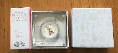 2018 Beatrix Potter Flopsy Bunny Silver Proof 50p Coin Limited Edition - Rare.