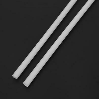 2pcs Engineering Plastic & Rubber Rods Wear-resisting Round Nylon Bar 6 * 500mm