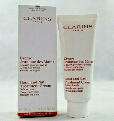 Clarins  Hand And Nail Treatment Cream Softens Hands Targets Age Spots/100.Ml