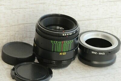 HELIOS 44-2 Russian USSR Lens + adapter Micro 4/3 Olympus Samsung / Perfect!