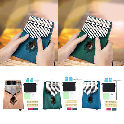 17 Key Kalimba Single Board Thumb Finger Piano Mbira for Beginners Kids