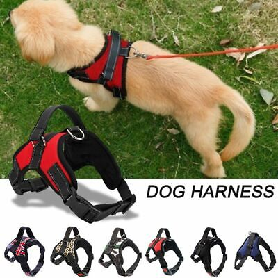 Pet Puppy Large Dog Vest Harness Nylon Hand Strap No Pull Adjustable S/M/L/XL BP