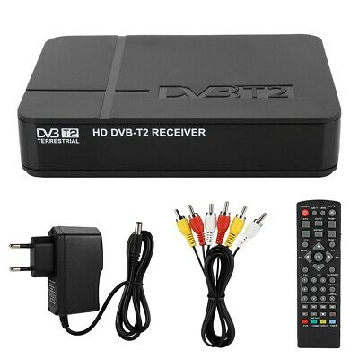 Decoder Ricevitore Digitale Terrestre Dvb-T2 Tv Full Hd 1080P 3D Pvr Usb Hdmi