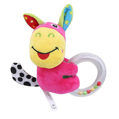 Cute Plush Animal Hand Bells Baby Toys Rattle Ring Bell Early Educational Toy Z