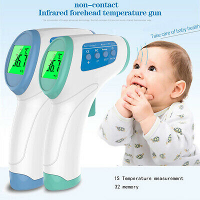LCD Digital Infrared Forehead Body Thermometer Gun Non-contact Temperature Meter