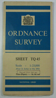 1960 Old Vintage OS Ordnance Survey 1:25000 First Series Map TQ 45 Westerham