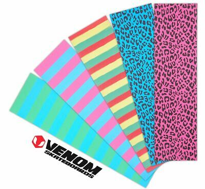 "Venom Skateboards Perforated Skateboard Waterproof Griptape 9"" x 33"" - Neon"