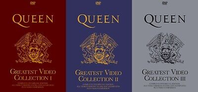 Queen Greatest Video Collection I, II & III rare 6DVD