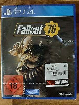Fallout 76 - Uncut, Deutsch (Sony PlayStation 4, 2018) [NEU + OVP]