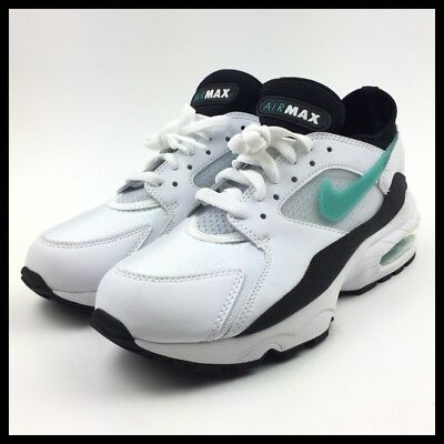 NIKE AIR MAX 93 Womens Running Shoes Size 8 White Black