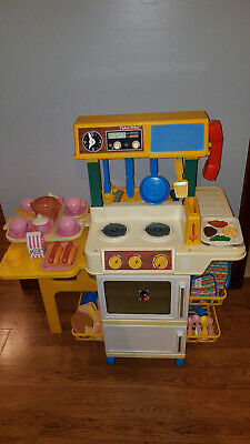 FISHER PRICE FUN with Food part TV T V dinner tray package ...