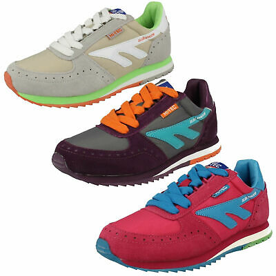 Ladies Hi Tec Lace Up Leather Casual Sports Everyday Trainers Shadow Original