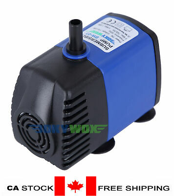 110V Submersible Water Pump 198GPH Fish Tank Pond Fountain Fall Hydroponic 7W