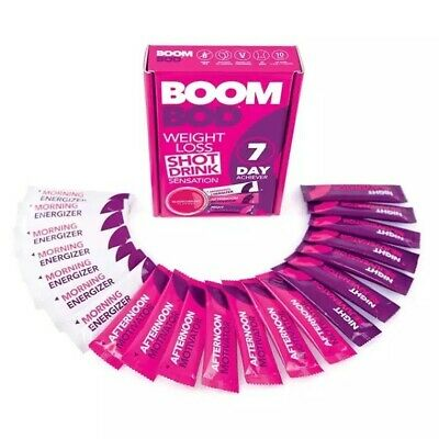 BoomBod 7 Day Achiever - Weight Loss Diet Slimming Shot Drink  - 21 Sachets