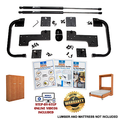 Full-Size DIY Murphy Bed Hardware Kit - Vertical Wall Mount FREE Fast Shipping