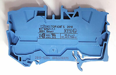WAGO 2010-1204 | 2-conductor through terminal block | TOPJOB S | 10 mm² | blue