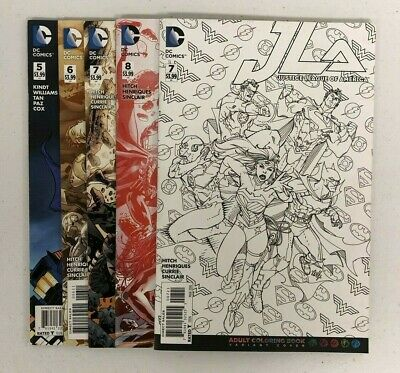 JLA Justice League of America #5-8 + #7 B/W Variant - Lot of 5 Comic Books