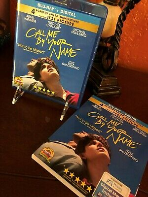 CALL ME BY YOUR NAME Armie Hammer Blu-ray with Slipcover
