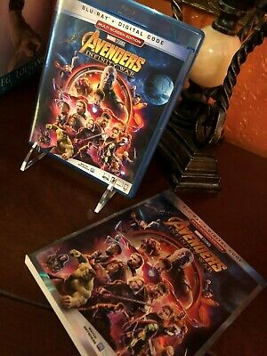 AVENGERS INFINITY WAR  Blu-ray with Slipcover