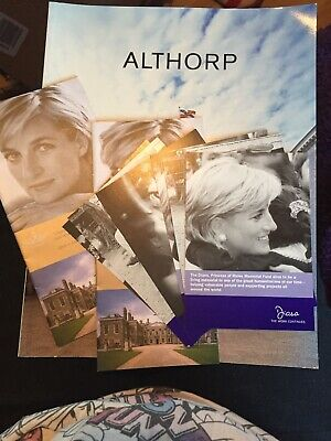 Althorp Visitor Programme 2001  Princess Diana Special Articles And Postcards