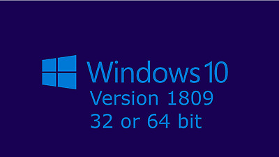 windows 10 all versions 1809 32 or 64 bit upgrade install recovery DVD disc