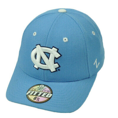 the latest 6d392 4066e NCAA Original Zephyr North Carolina Tar Heels Fitted Size Curved Blue Hat  Cap