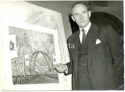 1960 LONDON Lord John HOPE shows decorations for Princess Margaret's wedding