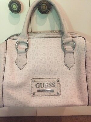 GUESS HANDBAG OFF White Cream Hint Of Blush