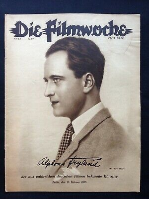 1.WK Die Filmwoche 1928 Cilly Feindt Kino Berlin german movie news Paul Ickes !!