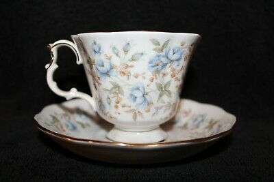 Royal Albert - Rose Chintz Series - Blue Gown -Tea Cup & Saucer - England