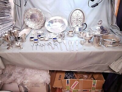 A Job Lot Of 45 Vintage Silver Plated Items.7 Kgs In Weight.