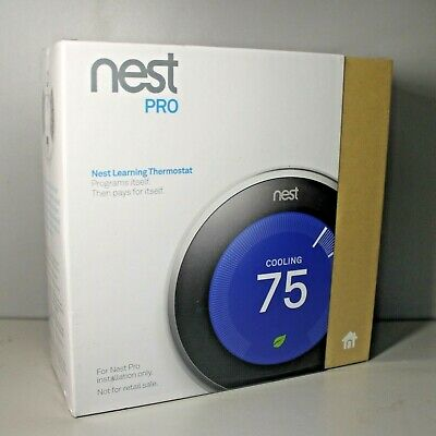 Nest PRO T3008US Learning 3rd Generation Thermostat - Stainless Steel NEW SEALED