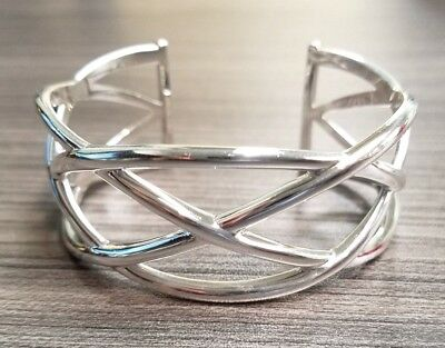 cb88a3b59 TIFFANY & CO. Sterling Silver Paloma Picasso Celtic Knot Cuff Bangle ...