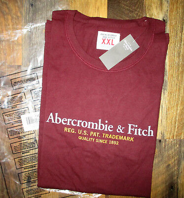 31f2ff4a NEW 2018 ABERCROMBIE & Fitch Men Heritage Applique Logo Graphic Tee ...