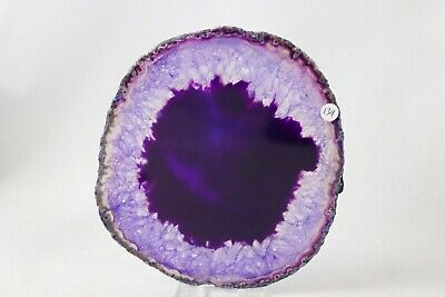 """ASD139) Large Purple Agate Crystal Slice Table Decor Arts Crafts Gift Geode 5"""""""