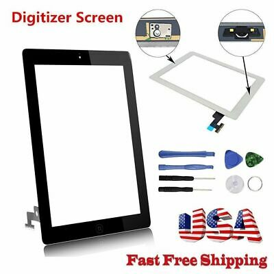 Touch Screen Digitizer Replacement For Apple iPad 2/3/4/Air/Mini 1/2 Black/White