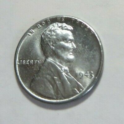 Original 1943 Steel Lincoln Wheat Wwii Cent