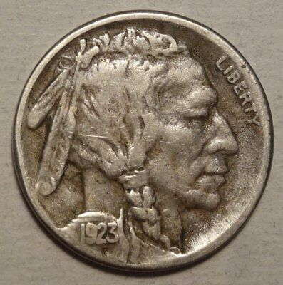 1923-S Buffalo Nickel, Fine+, Original Semi Key Date    0411-05