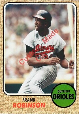 Custom Made Topps 1968 Baltimore Orioles Frank Robinson Baseball Card