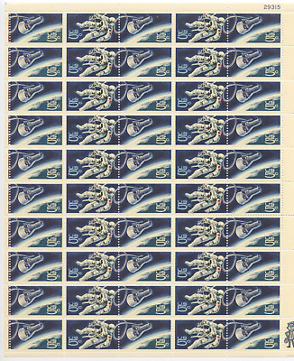 1967 Gemini 4 Space Twins - #1331 - MNH - Sheet - 50 5 Cent US Postage Stamps