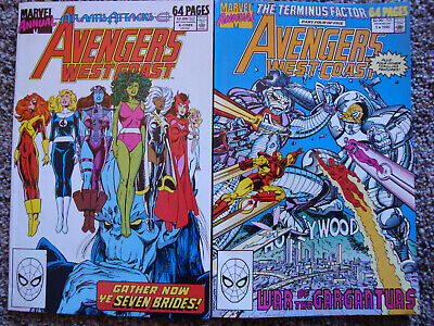 Avengers West Coast Annuals #4 ('89) & 5 ('90)/Marvel Comics/Very Good Condition